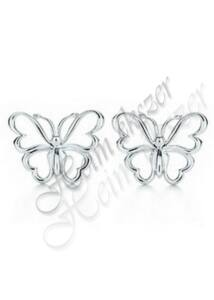 Ezüst pillangó fülbevaló, Heim Ékszer webáruház