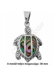 Pávakagylós teknős medál, ezüst ékszer