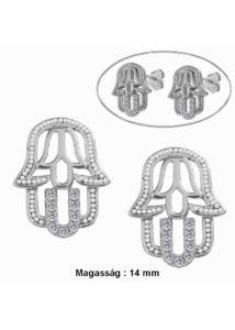 Fatima keze ( hamza ) védő ezüst fülbevaló
