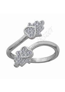Fatima keze ( hamsa ) gyűrű, védelmező kéz ezüst gyűrű
