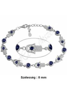 Hamsza ( Isten keze, Fatima keze ) karkötő, ezüst ékszer