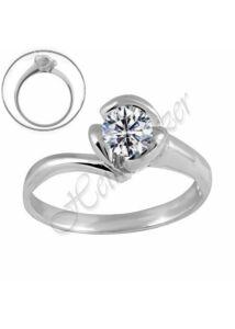 Fehér arany gyűrű, egyedi arany ékszer minden méretben