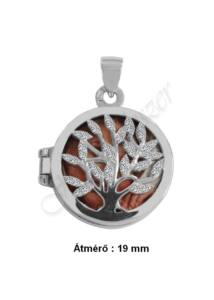 Fényképtartó nyitható életfa medál, ezüst ékszer