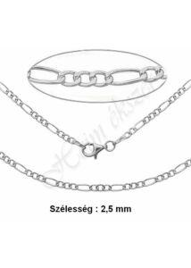 Figaro 3+1 nyaklánc, vékony ezüst nyaklánc több hosszúságban