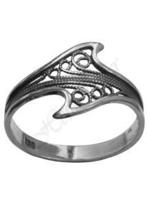 Filigrán gyűrű, ezüst ékszer