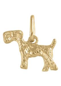 Foxi kutya, foxterrier medál, arany ékszer