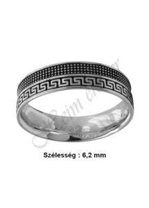 Görög mintás zománcozott gyűrű, ezüst ékszer