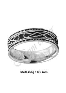 Férfi zománcozott ezüst gyűrű, ezüst ékszer
