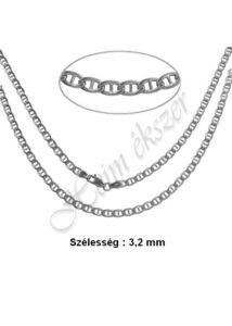 Ezüst gucci nyaklánc több méretben ( TÖMÖR szemekből )