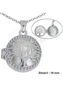 Gyógyszertartó nyitható medál nyaklánccal, ezüst ékszer hosszú méretben is