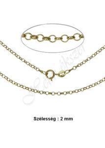 Vékony gyöngy anker nyaklánc, arany ékszer több hosszúságban