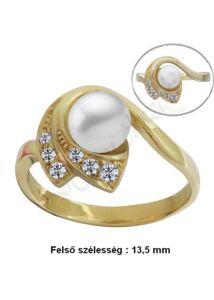 Gyöngyös arany gyűrű, egyedi arany ékszer minden méretben