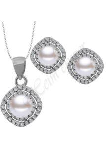 Gyöngyös ezüst ékszergarnitúra