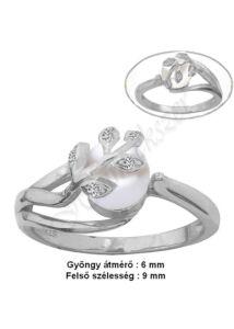 Valódi gyöngyös gyűrű, exclusive ezüst ékszer minden méretben