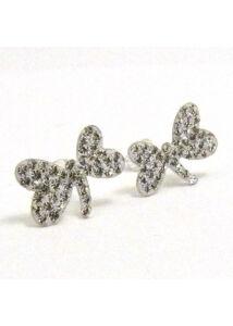 Szitakötő fülbevaló, ezüst ékszer Swarovski kövekkel díszítve