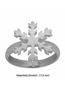 Hópehely, hópihe mintás gyűrű, ezüst ékszer minden méretben
