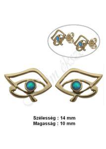 Hórusz szeme fülbevaló, védelmező arany ékszer