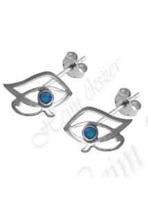 Hórusz szeme fülbevaló, védelmező ezüst ékszer