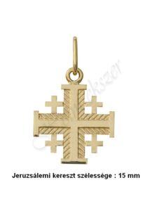 Jeruzsálemi kereszt medál, arany ékszer