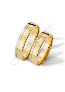 Egyedi karikagyűrű jegygyűrű 01, arany ékszer