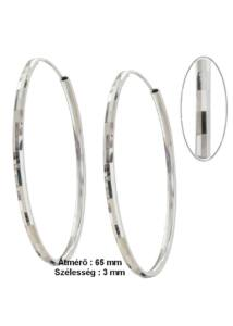 Karika fülbevaló 6,5 cm átmérő, ezüst ékszer