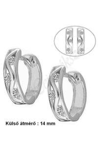 Kényelmes U alakú fülbevaló, ezüst ékszer