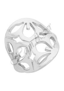 Egyedi ezüst ékszer, virág mintás ezüst gyűrű