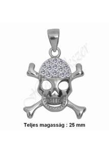 Koponyás skull medál, ezüst ékszer