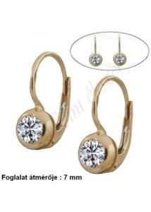 1 köves patent záras fülbevaló, arany ékszer