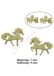 Lovacska, ló fülbevaló, arany ékszer