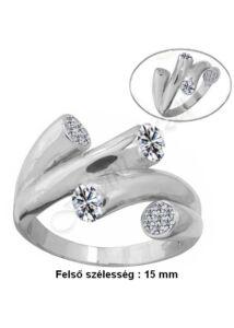 Modern köves gyűrű, ezüst ékszer minden méretben
