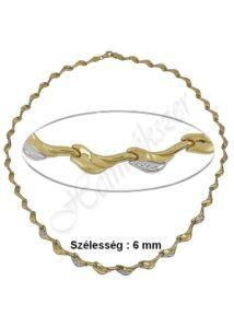 Mutatós arany nyaklánc, arany nyakék ékszer