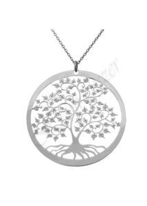 Nagy életfa medál nyaklánccal, ezüst ékszer