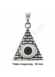Nazar, védő szem medál, ezüst ékszer