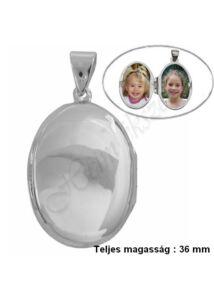Fényképtartó nyitható medál, ovális ezüst ékszer AKCIÓ !