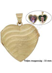 Nyitható szív medál, arany ékszer ( NAGY MÉRET )