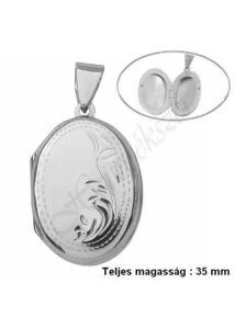 Fényképtartó nyitható medál, ezüst ékszer