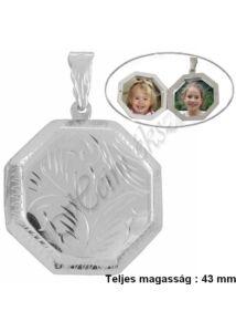 Nagy képtartó nyitható medál, ezüst ékszer