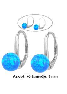 Opál köves 8 mm fülbevaló, ezüst ékszer