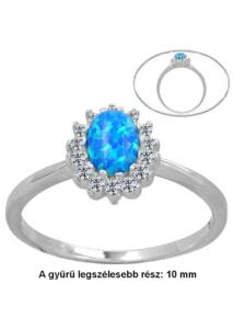 Opál köves ezüst gyűrű, ezüst ékszer.