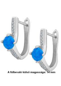 Opál köves U alakú fülbevaló, ezüst ékszer