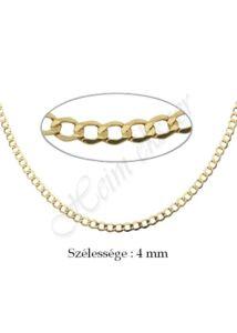 Mutatós pancer nyaklánc, arany ékszer több hosszúságban ( 60 cm is )