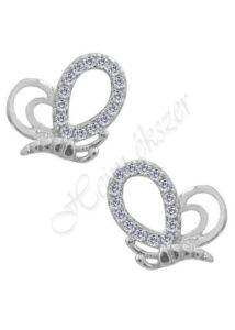 Lepke fülbevaló, ezüst szimbólum ékszer