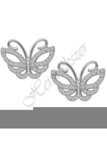 Pillangó fülbevaló cirkóniummal díszítve ezüst szimbólum ékszer