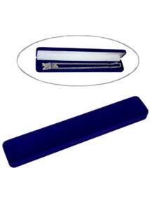 Díszdoboz nyaklánc számára, kék plüss ékszertartó díszdoboz