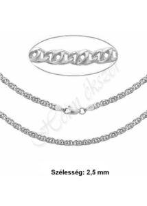 Ezüst ékszer, ezüst scharlesz nyaklánc több méretben