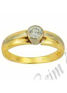 Arany ékszer, sárga-fehér arany gyűrű