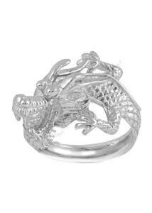 Szerencsehozó sárkány gyűrű, ezüst ékszer minden méretben