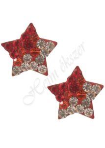 Swarovski kövekkel díszített csillag fülbevaló, ezüst ékszer