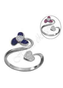 Szecessziós színváltó hangulatgyűrű , állítható méretü ezüst ékszer